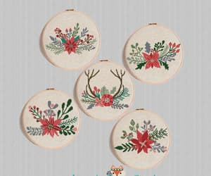etsy, christmas ornament, and christmas flower image