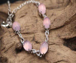 charm bracelet, etsy, and moonstone jewelry image
