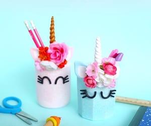 diy, unicorn, and diy pencil holders image