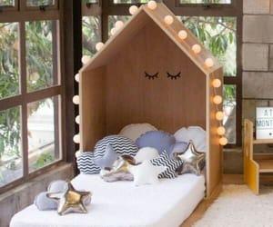bedroom, gender neutral, and circle image