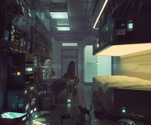 future and cyberpunk image