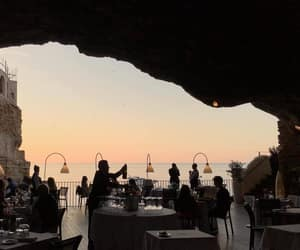 restaurant and sunset image