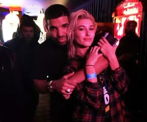 Drake, hailey baldwin, and model image