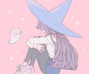 ghost, witch, and art image