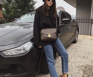 bags, jeans, and black image