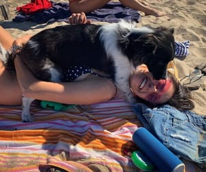 dog, happiness, and Nina Dobrev image