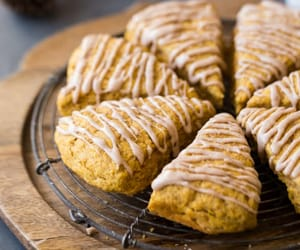 food, pumpkin, and scones image