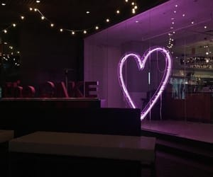 purple, heart, and neon image