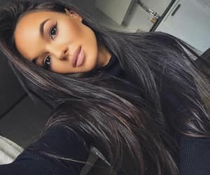 beauty, brunette, and girl image