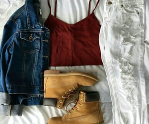 boots, white, and denim image