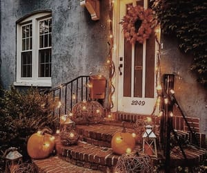 pumpkin, Halloween, and lights image