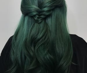 green and hair image