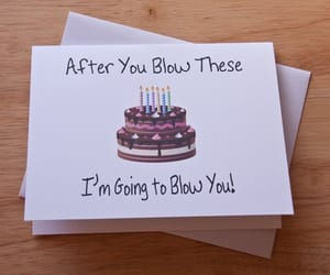 blowjob, happy birthday, and funny card image