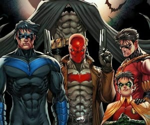 batman, red hood, and nightwing image
