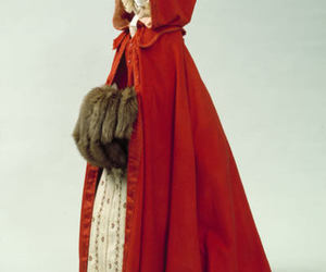 cape, red, and cloak image