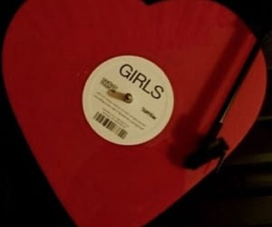 girls, aesthetic, and red image