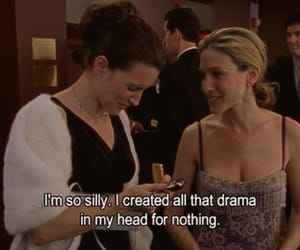 sex and the city, quotes, and drama image