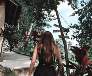 bali, flowers, and best friend image