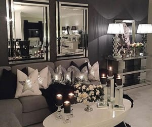 candles, grey, and home decor image
