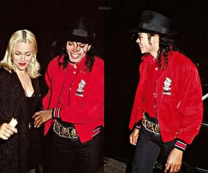 king of pop, michael jackson, and madonna image