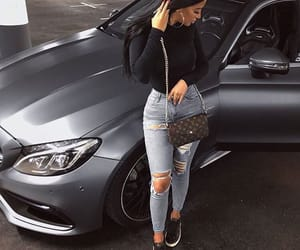 car, mercedes, and fashion image