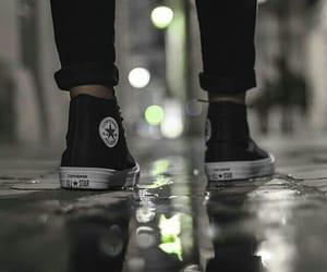 converse, black, and rain image