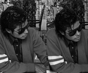 michael jackson, black and white, and mj image