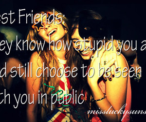 best friends, quote, and girl image