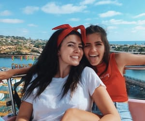 california, friend, and girl image