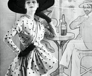 1950s, Christian Dior, and fashion models image