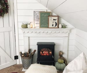 country living, decorating, and fireplace image