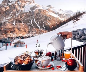 winter, food, and snow image