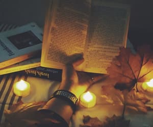 books, fall, and Halloween image