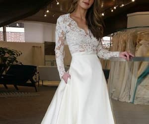 a-line wedding dress, ivory prom dress, and custom wedding dress image