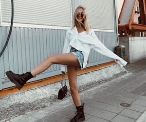 doc martins, shorts, and cute image
