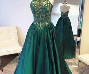 prom dresses cheap, high low evening dress, and evening dress long image