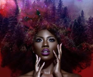 Afro, flowery galaxies, and work of art image