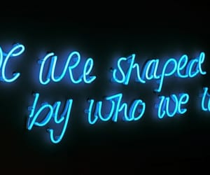 blue, neon, and words image