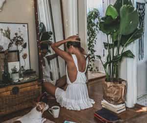 girl, home, and plants image
