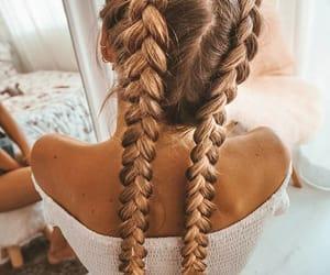 braids, beautiful, and beauty image