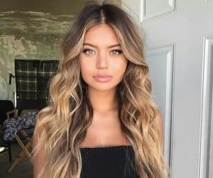 beautiful, girl, and long hair image