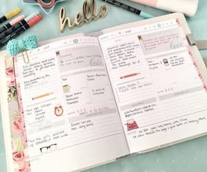 college, planner, and school image