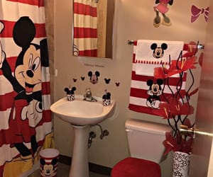 bathroom, mickey, and minnie image