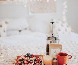 bed, lights, and breakfast image