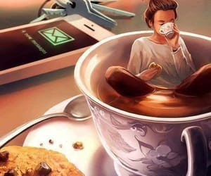 coffee, art, and Cookies image