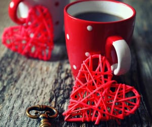 coffee, heart, and mug image