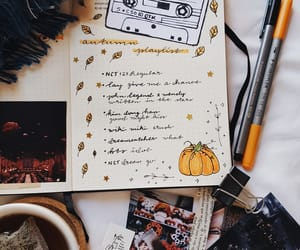autumn, blankets, and book image
