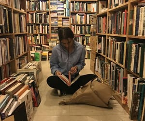 bookshop, library, and relax image