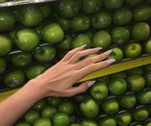 apple, green, and nails image