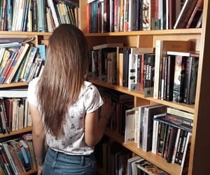 books, girl, and indie image